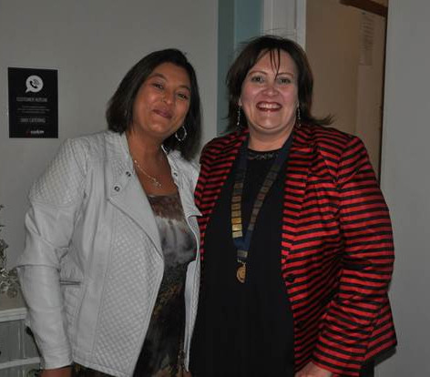 Malette Richardson and Janine Venter from the Ladies Circle