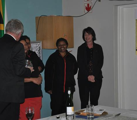 Brian thanks the staff of Rotary Park for the preparation of a delicious meal and for the decoration of the hall