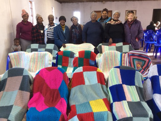 The Coffee Morning - knee blanket project for the elderly.