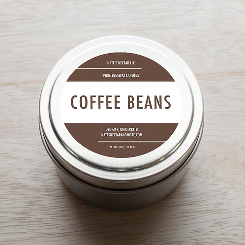 Coffee Beans Beeswax Candle