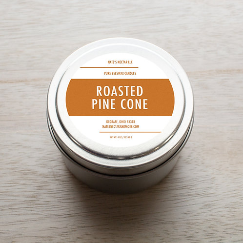 Roasted Pine Cone Beeswax Candle