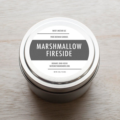 Marshmallow Fireside Beeswax Candle