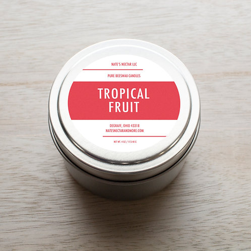 Tropical Fruit Beeswax Candle