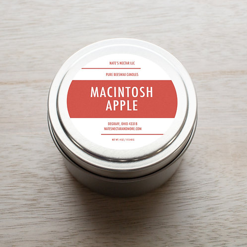 Macintosh Apple Beeswax Candle