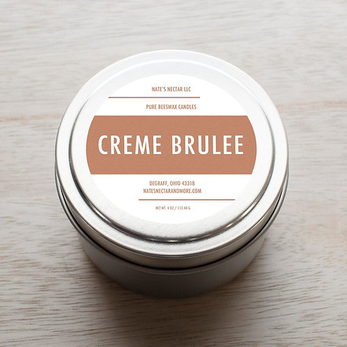 Creme Brûlée Beeswax Candle