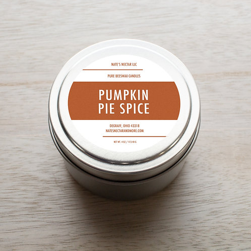 Pumpkin Pie Spice Beeswax Candle