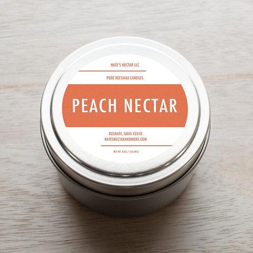 Peach Nectar Beeswax Candle