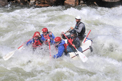 William, Randy and Casey Rafting
