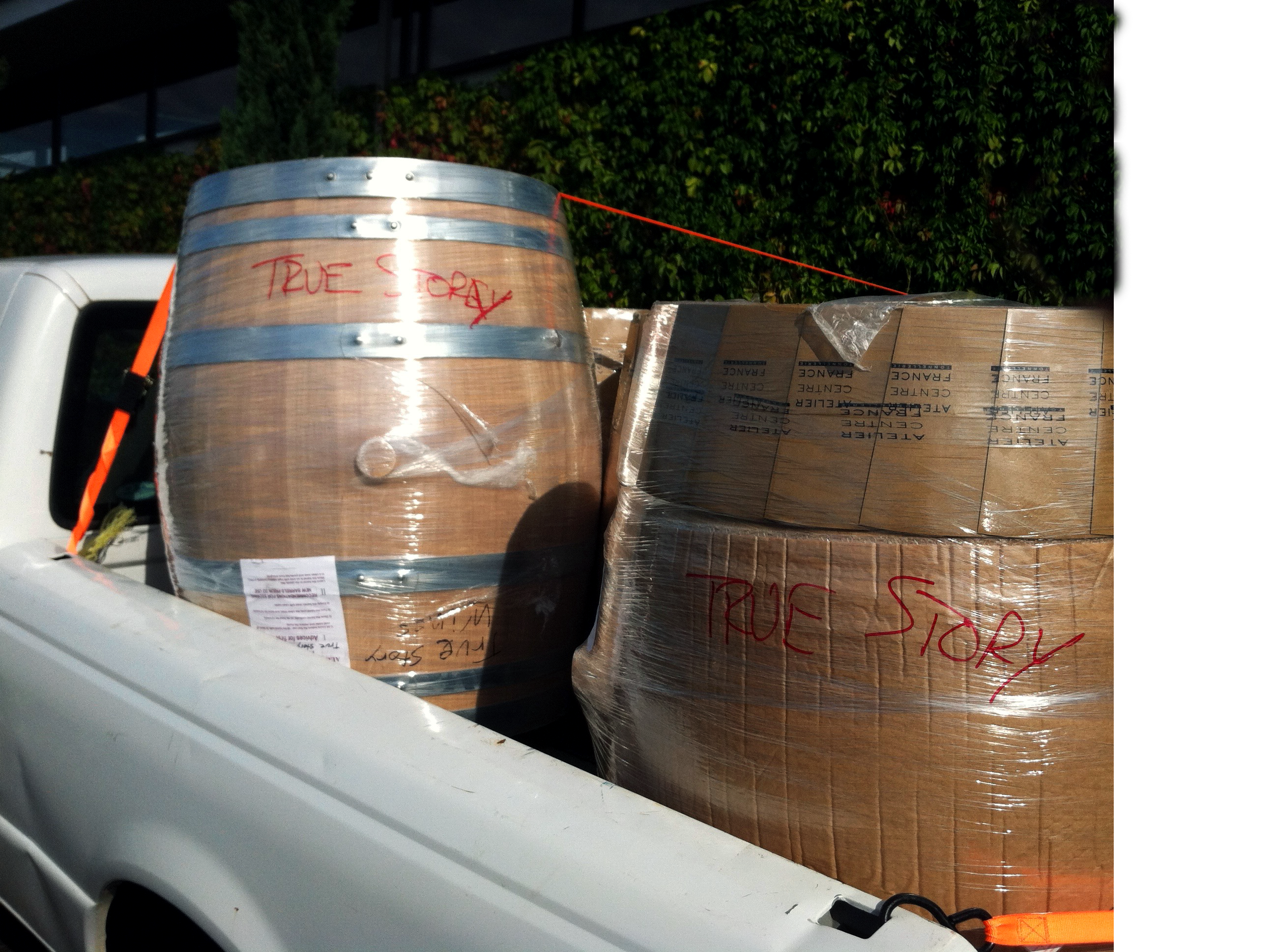 Barrels getting loaded
