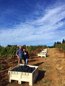 Luisa & Eric at their vineyard