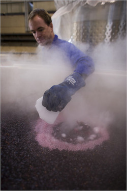 Eric playing with dry ice