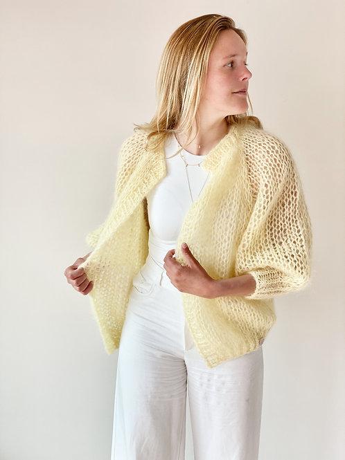Paulette cardigan - Soft Yellow