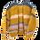 Thumbnail: Hand-knit mustard mohair cardigan