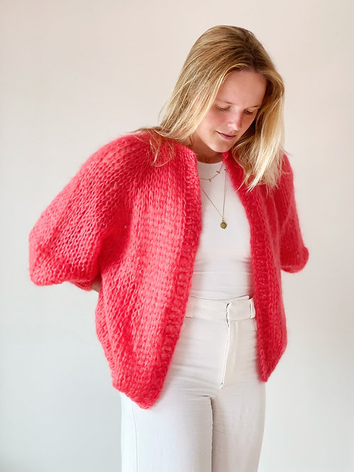 Paulette cardigan - Coral Red