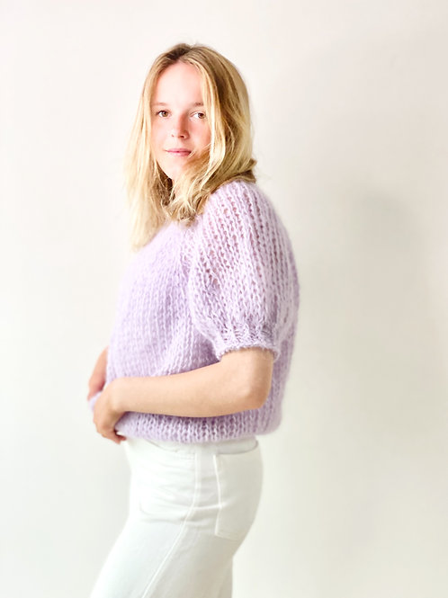Renee top puff sleeves - Lilac