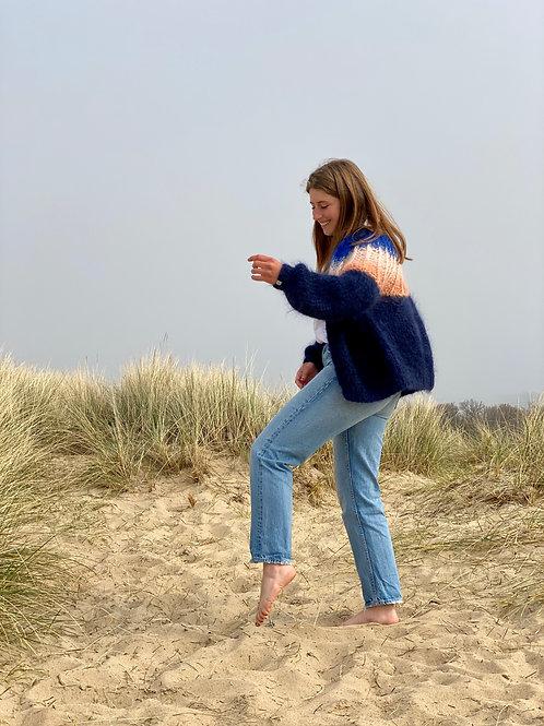 Camelia Cardigan - Marine blue ombré