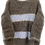 Thumbnail: Hand-knit boatneck grey with light blue and silver lines