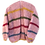 Thumbnail: Hand-knit pink striped mohair cardigan