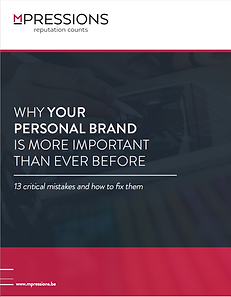 why your personal brand is more important than ever. 13 critical mistakes and how to fix them.