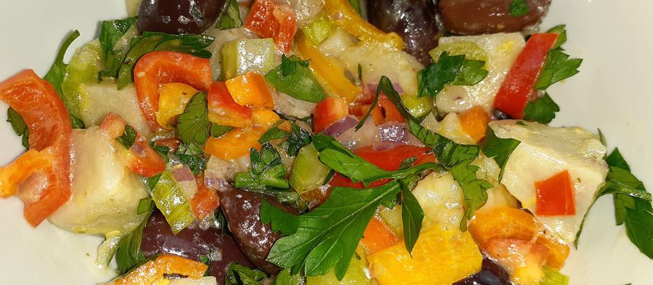 Greek Taro Salad