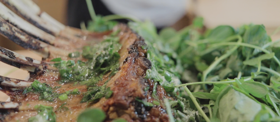 Rack of Lamb with Herb Butter