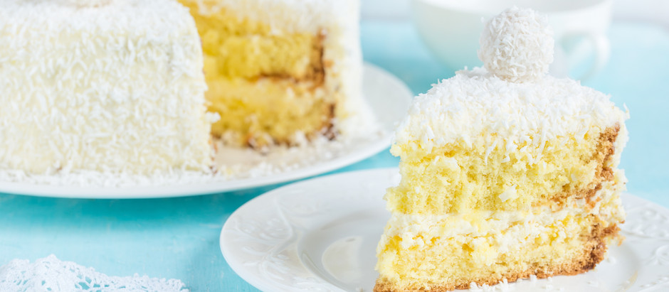 COCONUT LAYER CAKE WITH LEMON FILLING Adapted from Edna Lewis