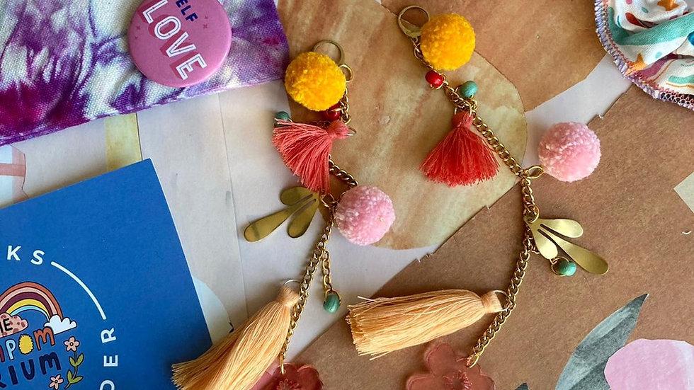 Long summer statement earrings