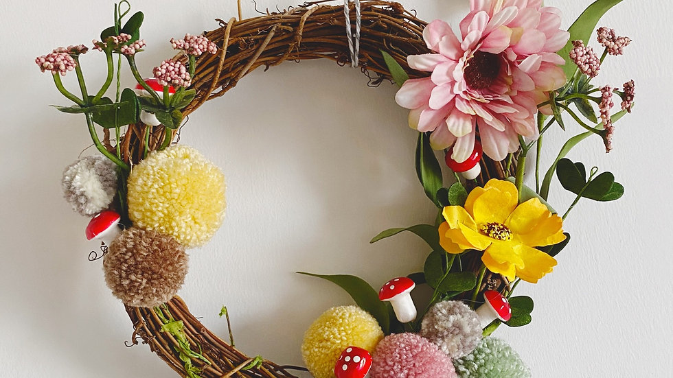 Fairytale spring wreath