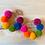Thumbnail: Neon rainbow pom pom hoops
