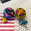 Thumbnail: Patterned pom pom keyring