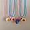 Thumbnail: Wooden bead and pom pom flower power necklace
