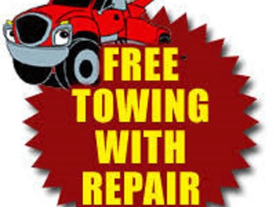 Free tow with major repair