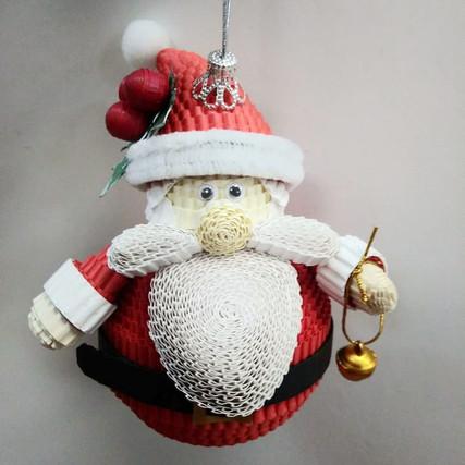 Новогодний мастер-класс Дед Мороз на ёлку.