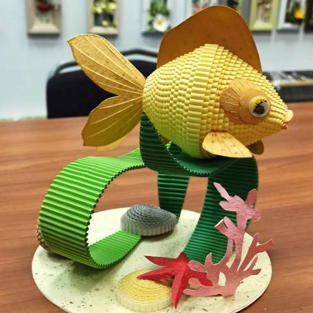 """Новый набор и мастер-класс. """"Золотая Рыбка""""."""