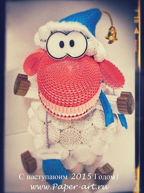 Набор - новогодняя овца в шапке