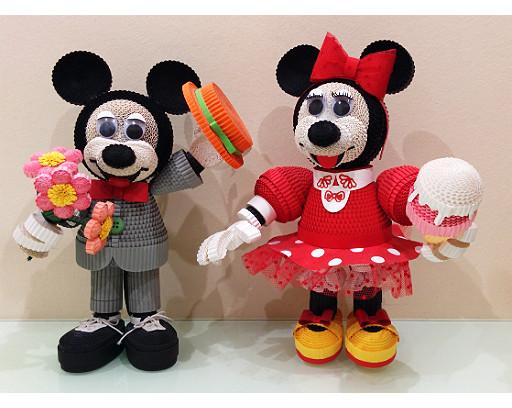 "Квиллинг-игрушкииз гофрокартона ""Микки и Мини"". Автор работы: Анна Грибачева."