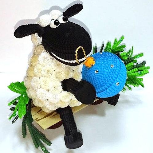 Набор - новогодняя овца с шариком