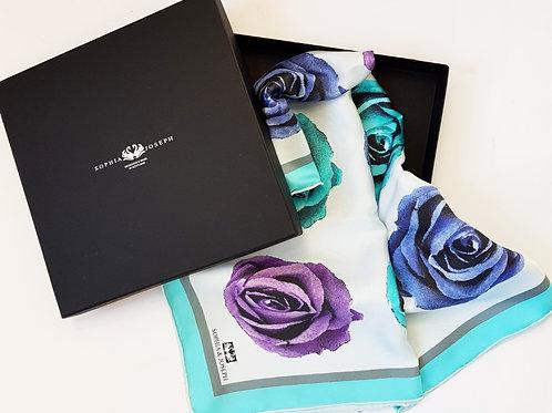 Bouquet - Silk Square (blue)