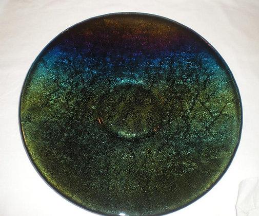 Green Iridescent platter