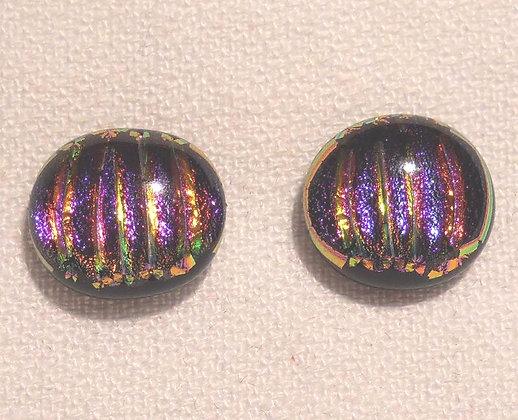 Purple-Pink Circle Earrings