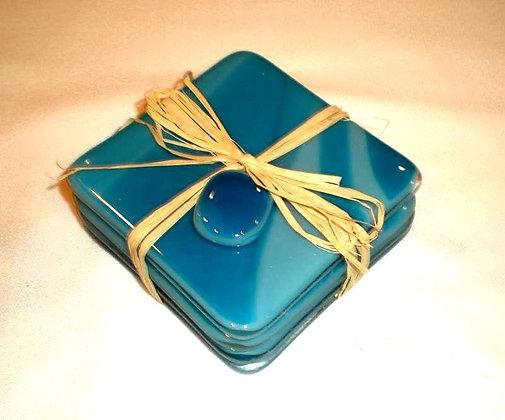 Blue Swirl Coasters