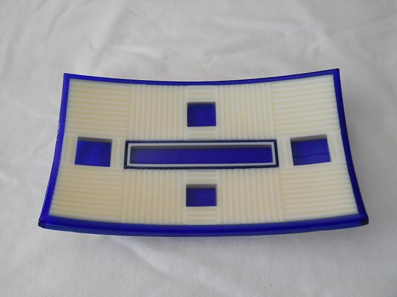Cobalt and Cream platter