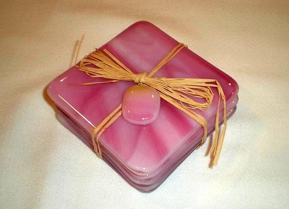 Pink Swirl Coasters