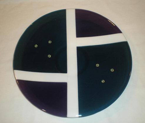 Bluel and purple platter