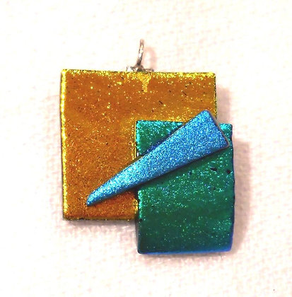 Yellow,Blue and Green Tac Pendant