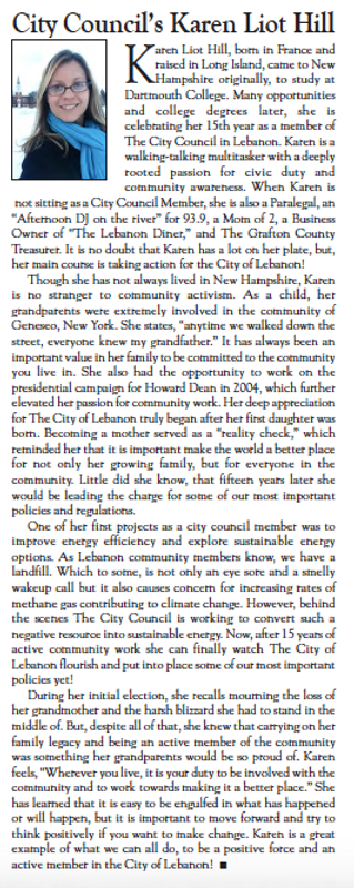 Karen Liot Hill article Lebanon Times.pn