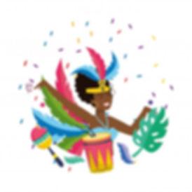 mulher-celebrando-brasil-carnaval-vetori