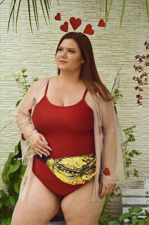 Body Vermelho - Plus Size