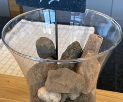 Echantillons de grès, calcaire et roche volcanique ramassés sur le Grand Cru SPIEGEL