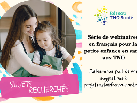 Série de webinaires en français pour la petite enfance en santé